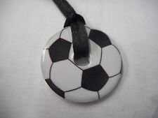 "Soccer Ball Necklace on 12"" Cord"