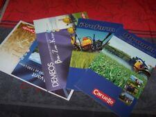 1C Lot de 4 Prospectus/Brochure/Prospekt agricoles Equipement tracteur CARUELLE
