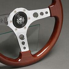 Holzlenkrad Sportlenkrad Holz Chrom 330mm Nabe Triumph TR4 TR5 TR6 GT6 Spitfire