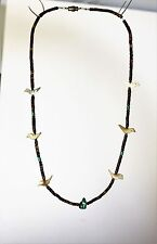 Bird fetish carved mother of pearl birds heishi   NECKLACE