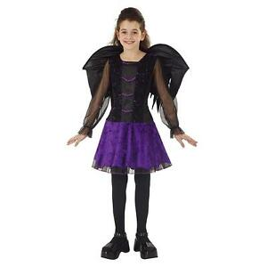 Girl's Wicked Fairy Halloween Costume Choose Your Size Dress Wings NEW Purple