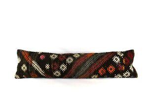 Kilim Pillow Cover 12x48 Vintage Oushak Ethnic Rug Extra Long Lumbar Pillow 4346