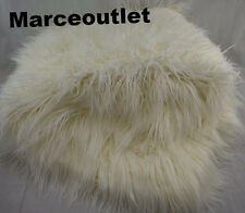 """Hudson Park Collection Mongolian Faux Fur Throw 50"""" x 70"""" Ivory"""