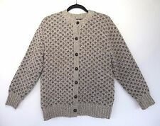 WOOLRICH WOMAN Women's Wool Cardigan Sweater Size L Long Sleeve Gray Heather EUC