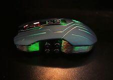 Sans Fil Pro Gaming Souris Optique 2.4 G 9 bouton lumière colorée 3200 dpi