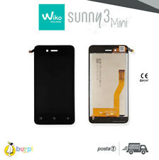 DISPLAY LCD + TOUCH SCREEN VETRO WIKO SUNNY 3 MINI ASSEMBLATO NERO BLACK SCHERMO