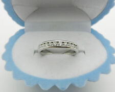Solid 14k White Gold Anniverasry Wedding Diamond 0.50 tcw Ring Band 4.6 grams