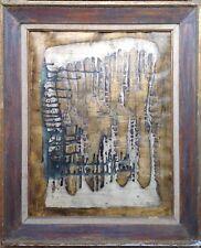JEAN MARIE LEDANNOIS PEINTURE ORIGINALE 1961 ABSTRACTION GÉOMÉTRIQUE A RELIEF
