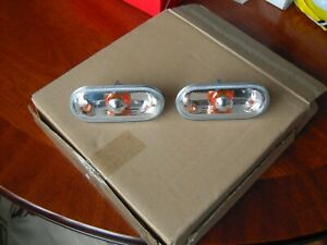 VW Caddy 2010-2015 Crystal Clear Side Indicator Repeaters Pair Left & Right