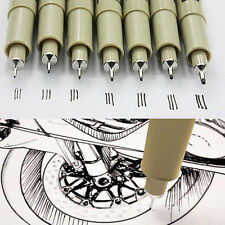 8pcs Micron Fine Liner Drawing Ink Pens & Brush Art Drawing Write Sketching Set
