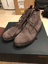 Allen Edmonds Surrey Cap-toe Boot Brown Nubuck Waterproof Leather size 12D