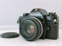 🟢Exc+5🟢Nikon EM Black 35mm Film Camera w/ Ai-s 50mm f/1.8 Lens From Japan 533