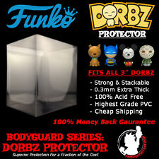"FUNKO DORBZ 3"" PROTECTOR DISPLAY CASE STRONG HIGH GRADE ACID FREE CHEAP SHIP"