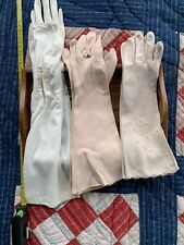 Set Of 3 Vintage Womens Fabric Gloves