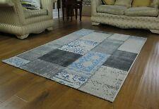 Modern Patchwork Rug-Cream,Grey,Blue-160x230x0.5cm-RUG201/230