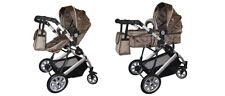 Easy fold 2 in 1 compact iMonsta buggy (pushchair) & carrycot pram + bag, Gold