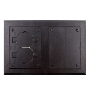 WALKER S265 WIREMOLD FLOOR BOX COVER PLATE, RECEPTALCE, BLANK, 2-GANG, BLACK