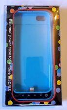 NEW Power Case 42mAh External Power Case for iPhone 5/5C/5S, Blue