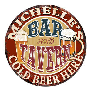CWBT0021 MICHELLE'S BAR N TAVERN Sign Mother's Day Christmas Gift For Woman