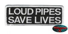 LOUD PIPES Patch Aufnäher Aufbügler Biker 1% Rocker Harley Oldskool Rockabilly