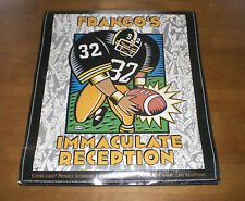 COORS LIGHT BEER POSTER FEATURING STEELERS FRANCO HARRIS IMMACULATE RECEPTION