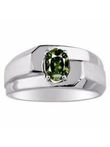 Genuine Green Sapphire Sapphire Set in Sterling Silver