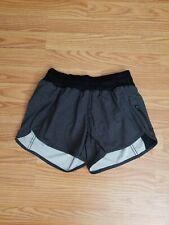 Lululemon Tracker Short IV Teeny Check Print White Black/Black Size 4