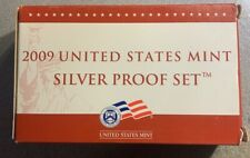 2009 US Mint Silver Proof Set w/ Box & COA - 18 Coins Complete