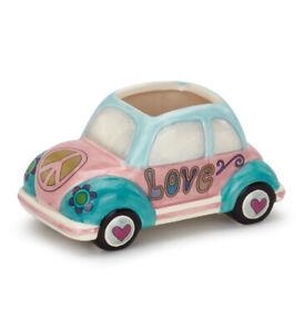 VW Volkswagon Bug Car Planter Pastel Colors New