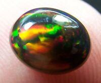 Ethiopian Black Opal Welo Gemstone Cabochon 1.74 CTs Fire 5/5 USA DEALER