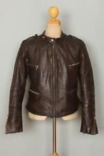 Vtg 1940s GERMAN French Leather Cyclist Motorcycle Flight Jacket Luftwaffe
