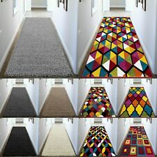 Non Slip Hallway & Kitchen Non Shed Shaggy Runner Rug Living Room Bedroom Carpet