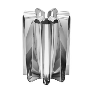 Frequency by Georg Jensen Mirror Polished Stainless Steel Vase Large - New