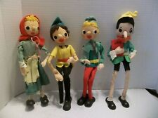 4 1950s Felt Dolls, Characters, Peter Pan+Pinocchio,Robin Hood,Red Riding Hood