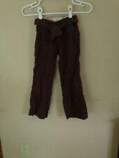 GAP Kids Brown Cotton Pants Straight 5 School Adjustable Waistband 5 Girls