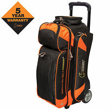 Hammer Premium Triple Roller 3 Ball Bowling Bag Black/Orange