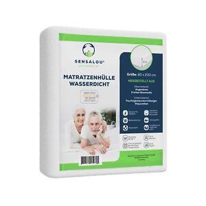 Sensalou Matratzenbezug mit Reissverschluss wasserdicht Inkontinenz Allergiker