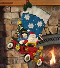"Bucilla 18"" Stocking - FINISHED - ""Holiday Drive"" 86451"