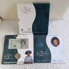 2000 reine mère centenaire £ 5 billet & Crown Set-QM10 010105