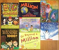 MATH CONCEPT  Lot 7 Children's Picture Books 1 Million High Big Large Numbers
