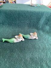 New listing 2 Vintage Aquarium Mermaids made in Japan Green