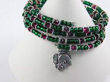 Multi-strand Wrap Bracelets - Handmade - Glass Beads, Swarovski crystal, Charms