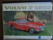 VOLVO P1800 SPORTS CAR orig 1961 UK Mkt Sales Brochure - P 1800 b)