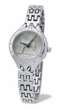 Ladies Bracelet Style Silver Genuine Irish Sixpence Coin Wristwatch