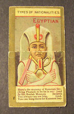 KINNEY BROS. TOBACCO CIGARETTE CARD - TYPS OF NATIONALITIES