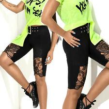 BY ALINA Mexton Damenhose Shorts Hotpants kurze Hose schwarz 34 - 38 #D296