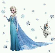 ELSA THE FROZEN PRINCESS Disney Decal Removable WALL STICKER Home Decor  Kids