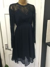 MAMALICIOUS Navy Blue Maternity Dress Size M See Measurements New Tags