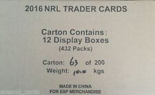 Original 2016 Season NRL & Rugby League Trading Cards