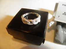 AVON .925 STERLING SILVER CABLE LINK RING SIZE 8 NIB